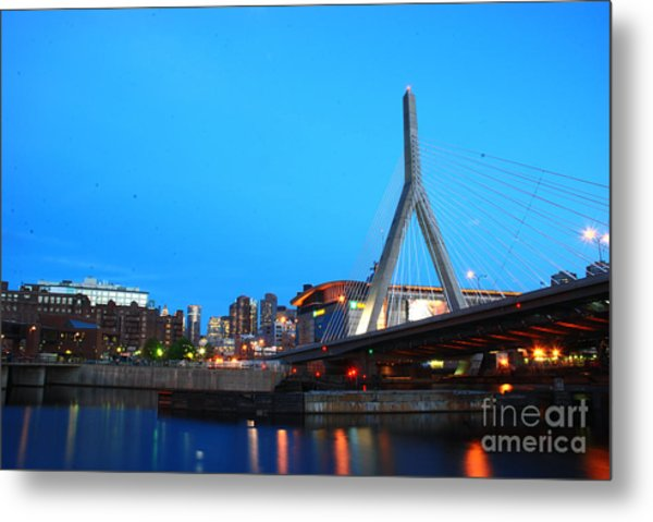 Tribute To Mr Zakim Metal Print