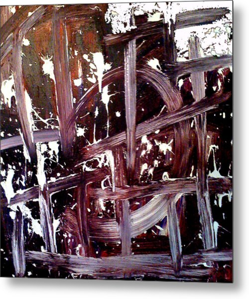 Tribute To Tapies Metal Print by Ernesto Akaba