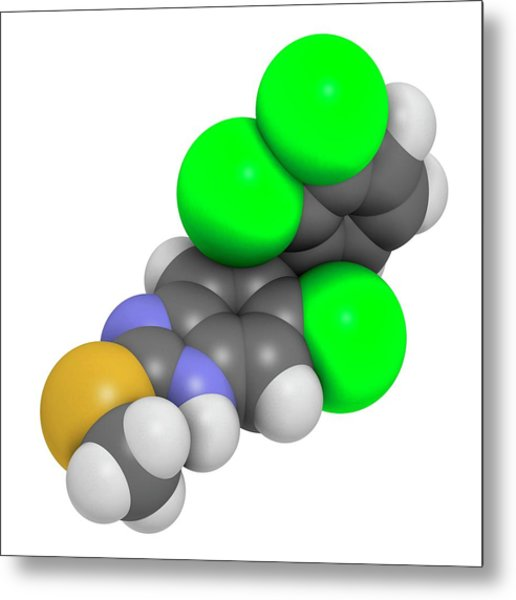 Triclabendazole Anthelmintic Drug Metal Print by Molekuul
