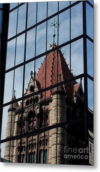 Trinity Chruch Reflected Metal Print