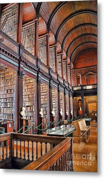 Trinity College Library 7024 Metal Print