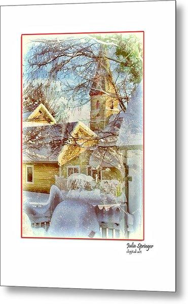 Trinity Episcopal Church In The Snow - Shepherdstown  Metal Print