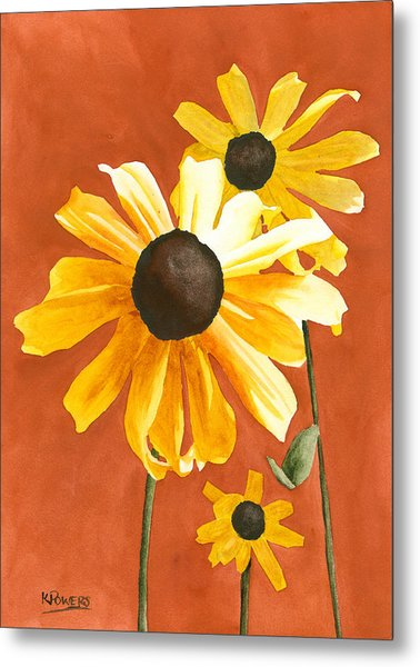 Metal Print featuring the painting Trio by Ken Powers