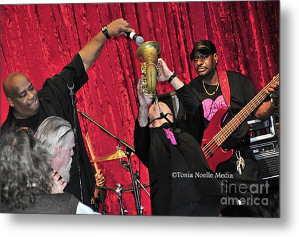 Trio Throwdown With Andy Stokes And Patrick Lamb And Randy Monroe Metal Print