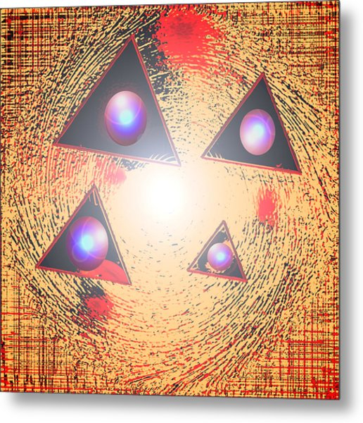 Triorbs Metal Print