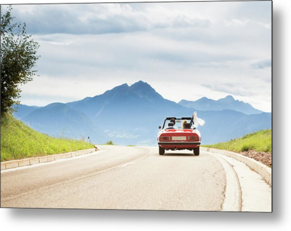 Trip In A Cabriolet Metal Print by Angiephotos