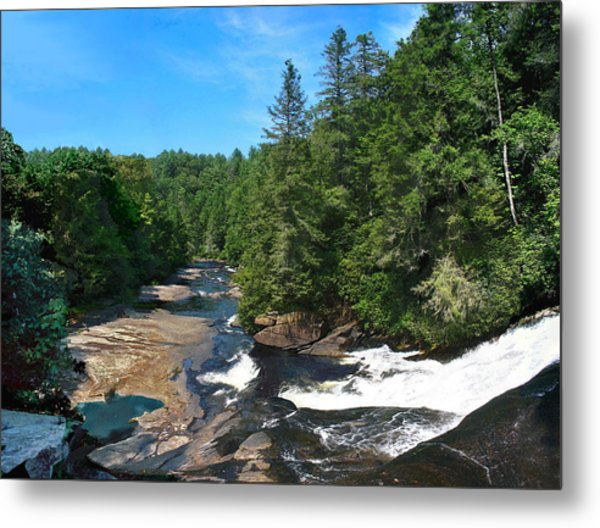 Triple Falls North Carolina Metal Print