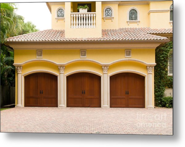 Triple Garage Doors Metal Print