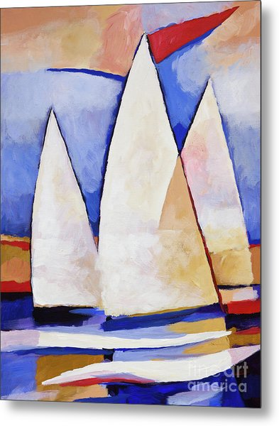 Triple Sails Metal Print