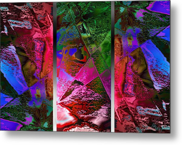 Triptych Chic Metal Print