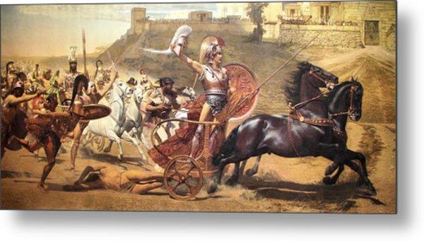 Triumphant Achilles Metal Print