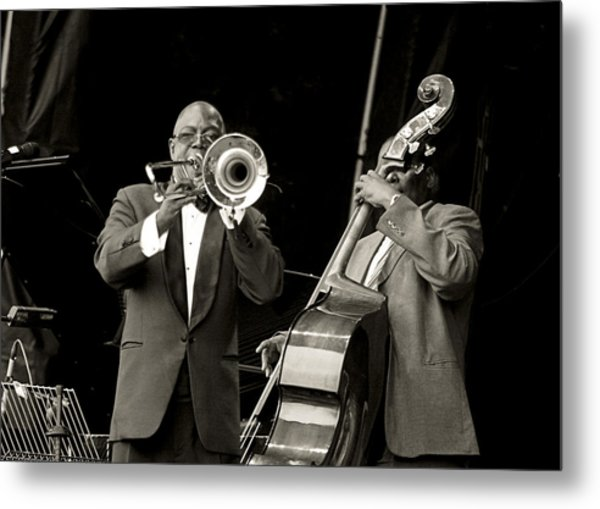 Trombone And Bass Metal Print by Tony Reddington