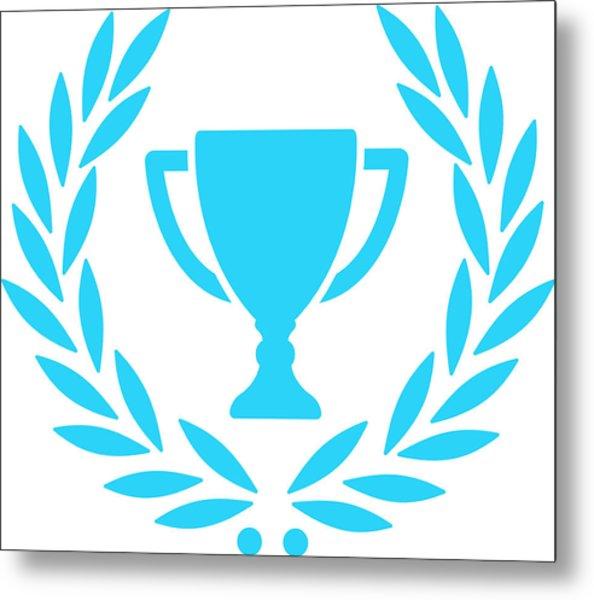 Trophy With Laurel Wreath Metal Print by Chokkicx
