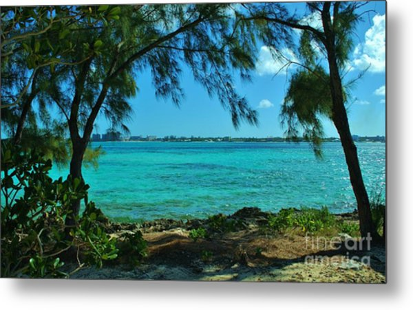 Tropical Aqua Blue Waters  Metal Print