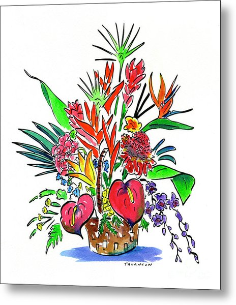 Tropical Basket Metal Print