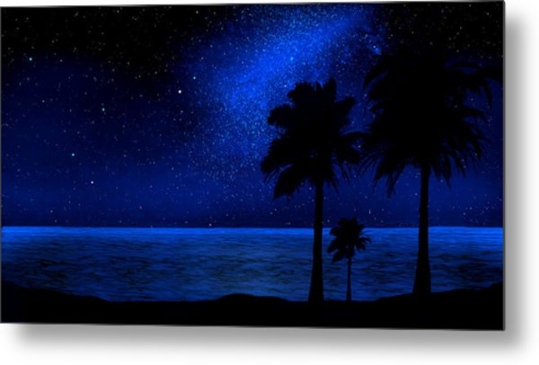Tropical Beach Wall Mural Metal Print