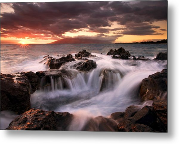Tropical Cauldron Metal Print
