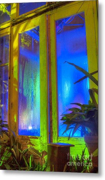 Tropical Door Metal Print