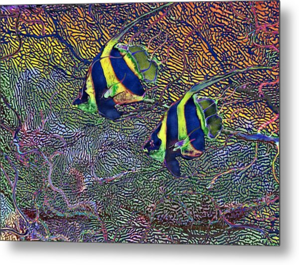 Coral Reef Tropical Fish Colorful Water Art Metal Print