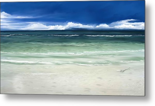 Tropical Ocean Metal Print