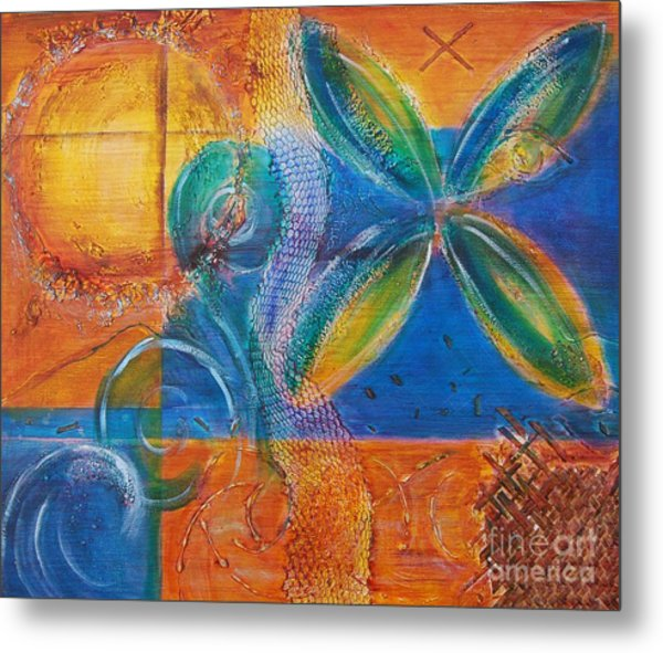Metal Print featuring the painting Tropical Sun by Jocelyn Friis