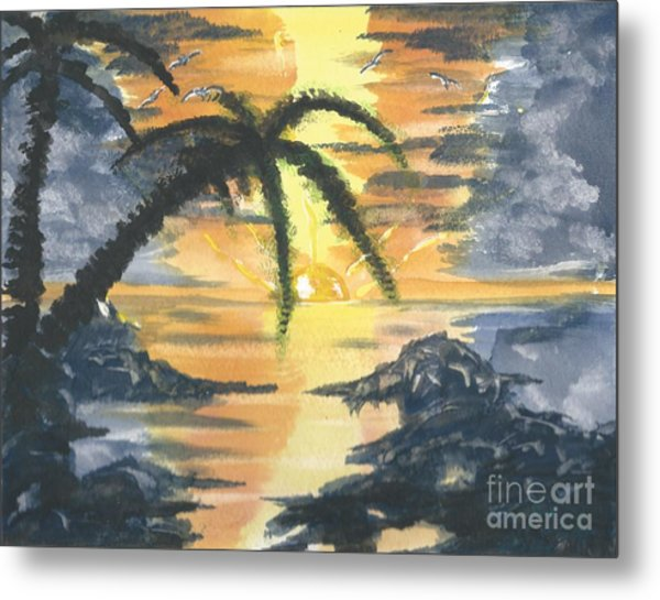 Tropical Sun Metal Print
