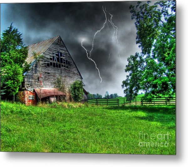 Trouble Brewing Metal Print