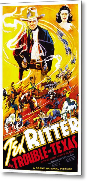 Trouble In Texas, Us Poster, From Left Metal Print