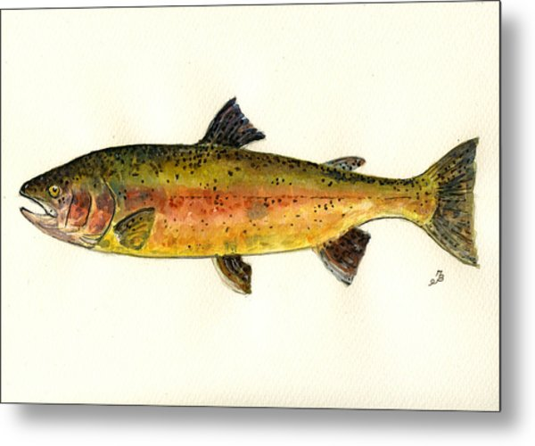 Trout Fish Metal Print