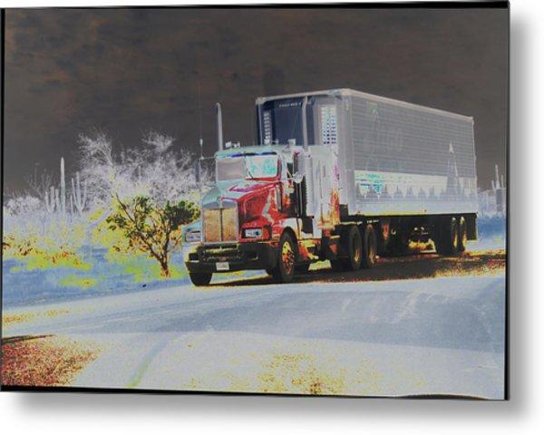 Truck Metal Print by Astrid Lenz