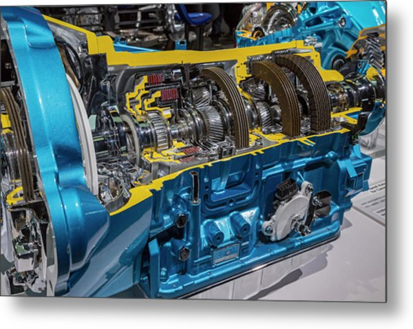 Truck Automatic Transmission Metal Print by Jim West/science Photo Library