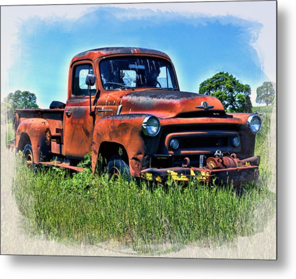 Metal Print featuring the photograph Truck In The Grass by William Havle