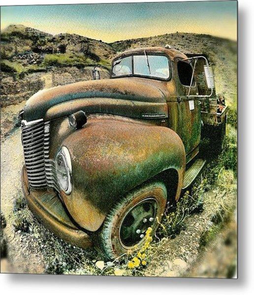 #truck #rust #rusty #pickup #photo Metal Print