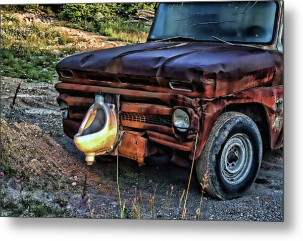 Truck With Benefits Metal Print