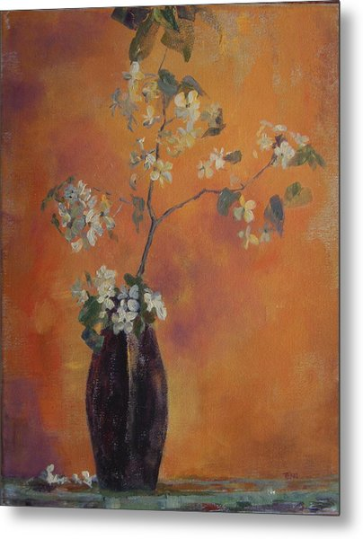 Trudi's Vase Metal Print by Terri Messinger