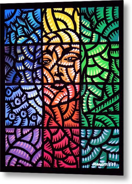 True Blue Madonna Metal Print