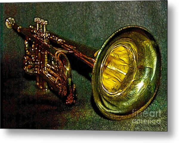 Trumpet - 20130111 Metal Print by Wingsdomain Art and Photography