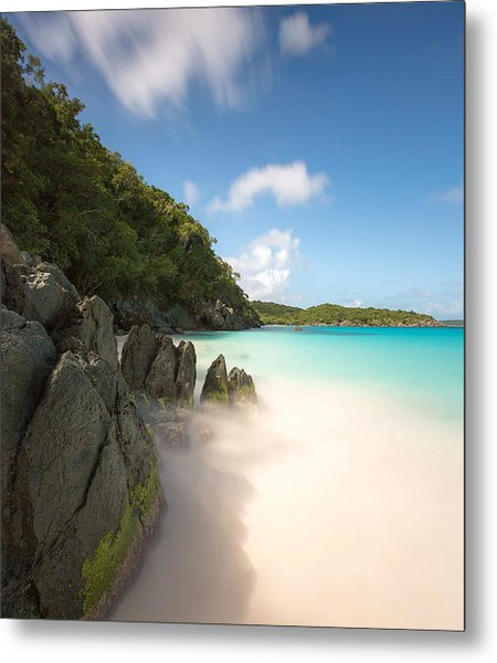 Trunk Bay At St. John Us Virgin Islands Metal Print