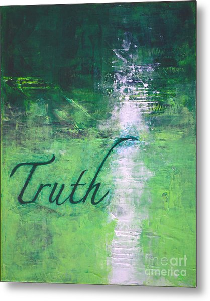 Truth - Emerald Green Abstract By Chakramoon Metal Print by Belinda Capol