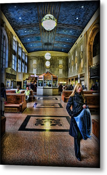 Tuesday Afternoon At The Train Station Metal Print by Lee Dos Santos