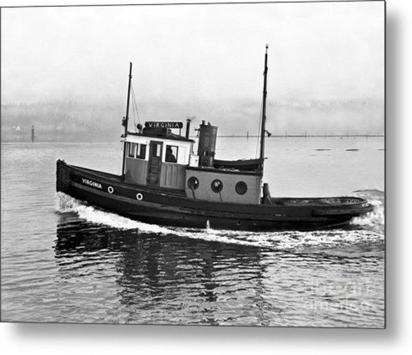 Tug Boat Virginia 1930 Metal Print