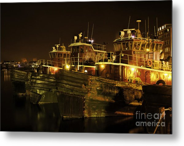 Tugboats 1st Night Dec 2013 Metal Print