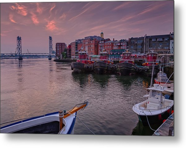 Metal Print featuring the photograph Tugboats Portsmouth New Hampshire by Jeff Sinon