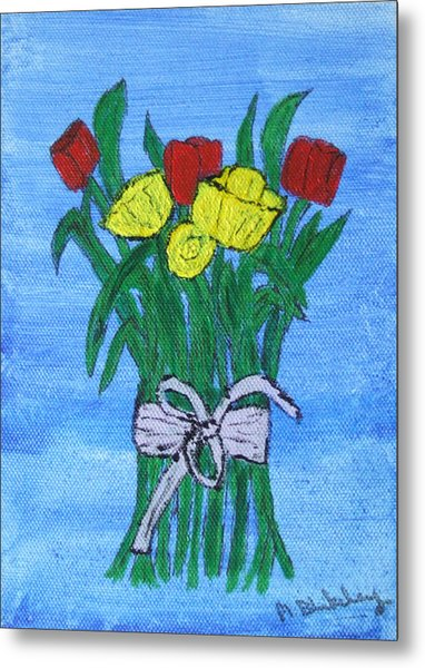 Tulips And Daffodils Metal Print