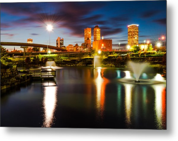 Tulsa Oklahoma City Lights Metal Print