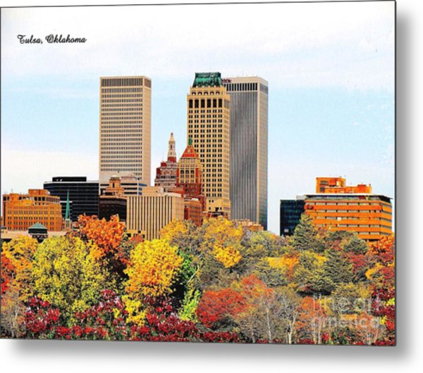Tulsa Oklahoma In Autumn Metal Print