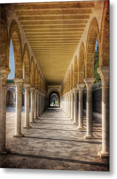 Metal Print featuring the photograph Tunisian Arches / Monastir by Barry O Carroll