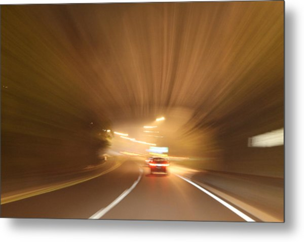 Tunnel 1704-51 Metal Print by Deidre Elzer-Lento