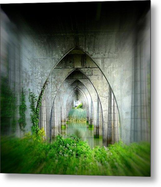 Tunnel Effect Metal Print