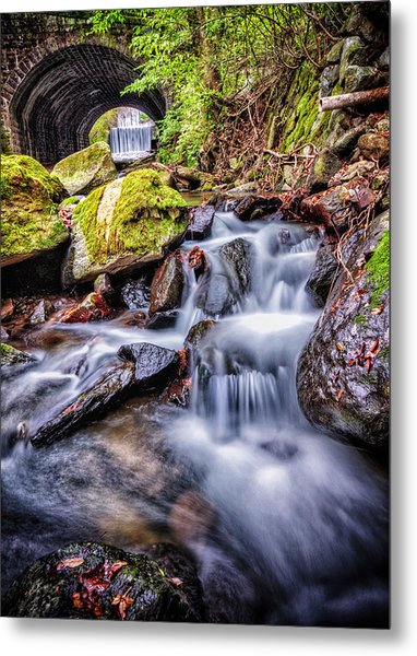 Tunnel Of Water Metal Print